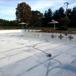Pool re-painting process
